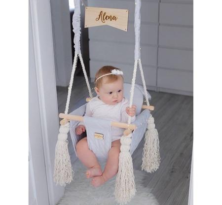 Baby Steps Huśtawka VelvetSwing Gray