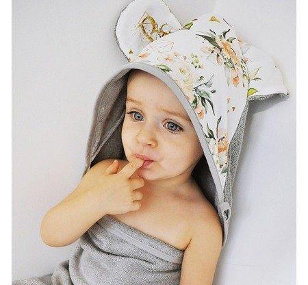 Baby Steps Ręcznik bambusowy 90/120 cm Ptaszki kremowy