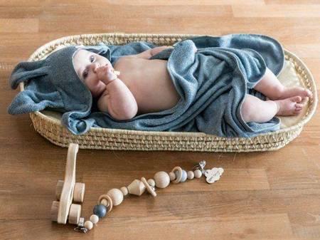 Bamboom Ręcznik Bambusowy z Kapturkiem i Uszami Niebieski 100x100 0m+