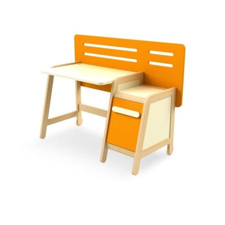 Biurko z kontenerkiem pomarańczowe Timoore Simple