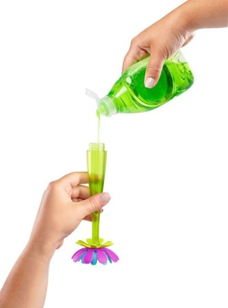 Boon Silikonowa szczotka do butelek z dozownikiem
