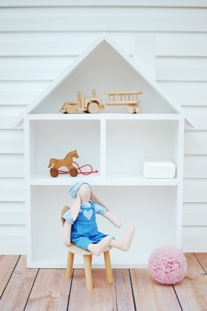 Domek dla lalek regał XXL biały