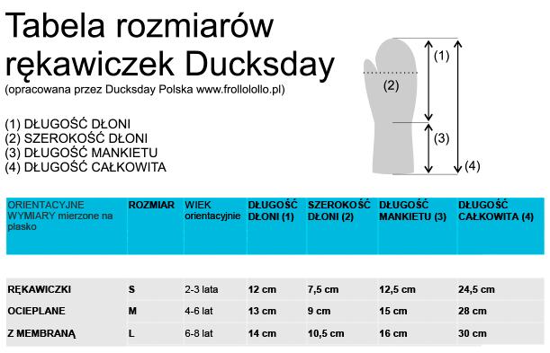 Ducksday Rękawiczki narciarskie ocieplane z długim mankietem rozmiar M black