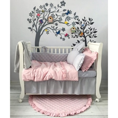 Falbanka pod materac na przód łóżeczka 60/120 szara, Dolly