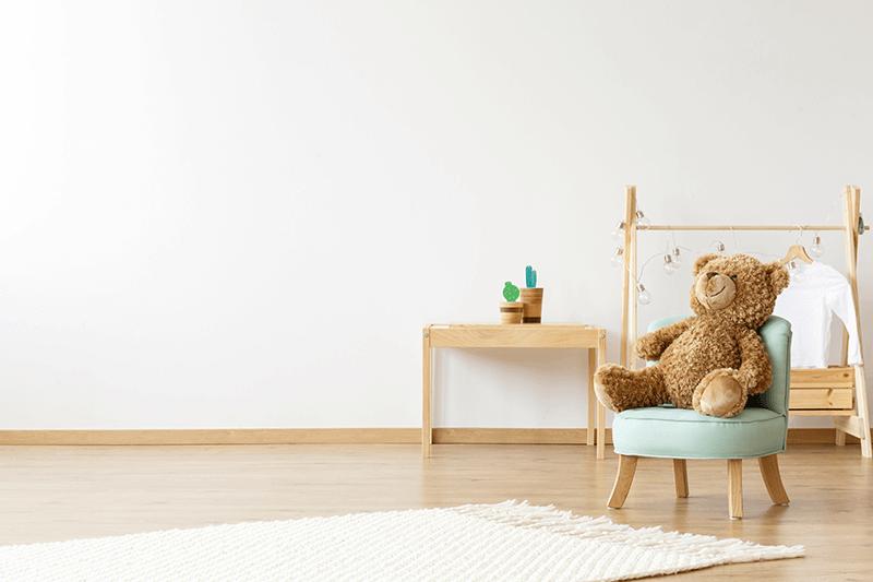 Fotelik Dziecięcy Len Błękitny