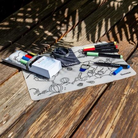 Funkit World Mata do kolorowania wielokrotnego użytku Scrunch Nad morzem