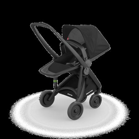 Greentom 2w1 CARRYCOT + REVERSIBLE Wózek eko czarno-czarny