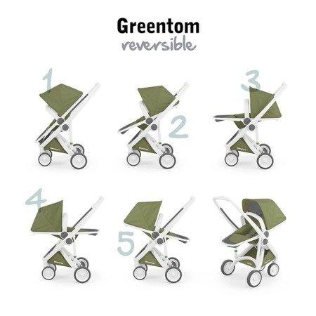 Greentom 2w1 CARRYCOT + REVERSIBLE Wózek eko czarno-granatowy