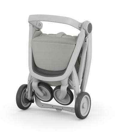 Greentom Classic Wózek spacerowy EKO biało-różowy