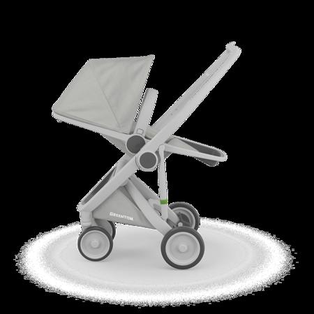 Greentom REVERSIBLE Wózek spacerowy eko szaro-szary