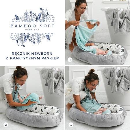 La Millou Ręcznik Bamboo Soft Newborn Doggy Unicorn mint