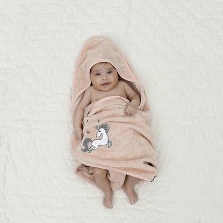 La Millou Ręcznik Bamboo Soft Newborn Doggy Unicorn powder pink