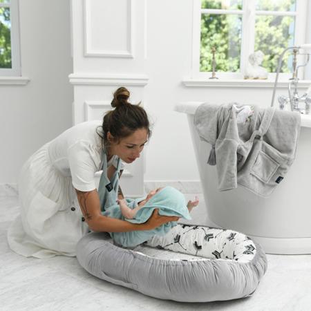 La Millou Ręcznik Bamboo Soft Newborn Unicorn Rainbow Knight grey