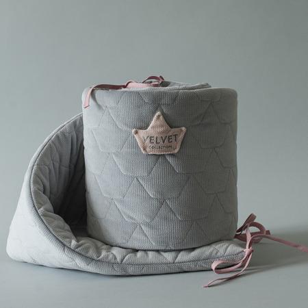 La Millou VELVET COLLECTION - OCHRANIACZ DO ŁÓŻECZKA 70x140cm - DARK GREY
