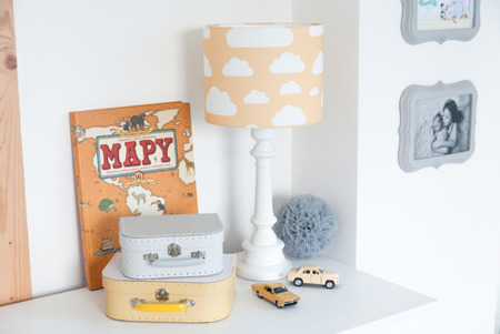 Lampa dla dzieci Chmurki Mustard