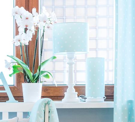 Lampa dla dzieci Lovely Dots Mint