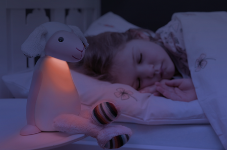 Lampka do czytania FIN z automatycznym wyłączaniem różowa,ZAZU