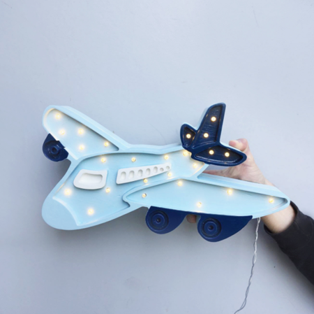 Lampka drewniana z funkcją ściemniania Little Lights Samolot Polski HandMade