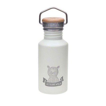 Lassig Bidon ze stali nierdzewnej z dodatkowym ustnikiem ze słomką Adventure grey 500 ml