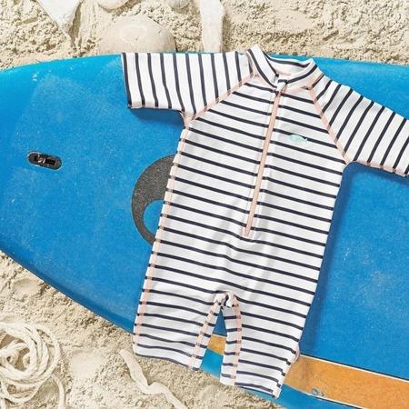 Lassig Kombinezon do pływania z krótkim rękawem Striped girls UV 50+ 18m-cy