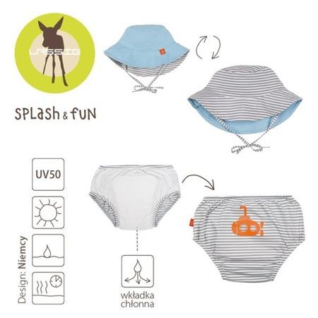 Lassig Zestaw kapelusz i majteczki do pływania z wkładką chłonną Submarine UV 50+ 18 m-cy
