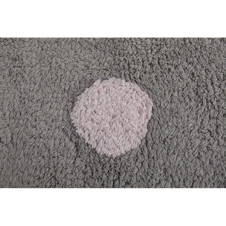 Lorena Canals Topos Tricolor Grey Rosa/Pink 120x160cm