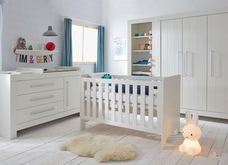 Łóżeczko 120x60 Białe Pinio Calmo