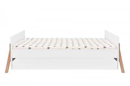 Łóżeczko z szufladą 70x140 cm Bellamy Lotta Snow