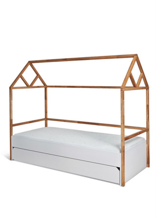 Łóżko Domek 90x200 z szufladą Bellamy Lotta Snow