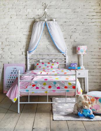 Łóżko metalowe dziecięce Floris 90/200 turkusowe