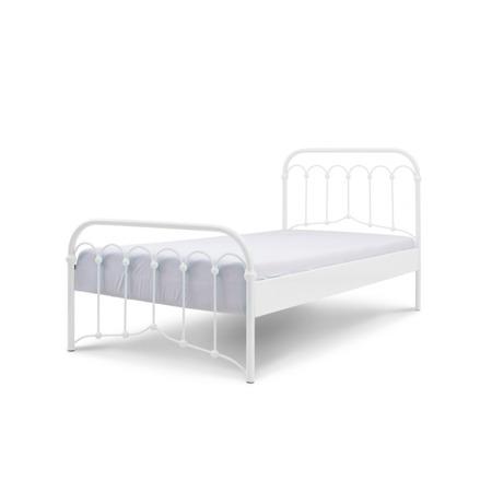 Łóżko metalowe dziecięce Avia 90/200 białe