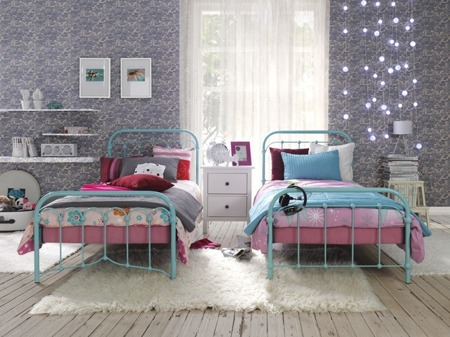 Łóżko metalowe młodzieżowe Avia 120/200 czerwone
