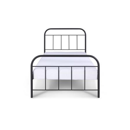 Łóżko metalowe młodzieżowe Avos 120/200 czarne