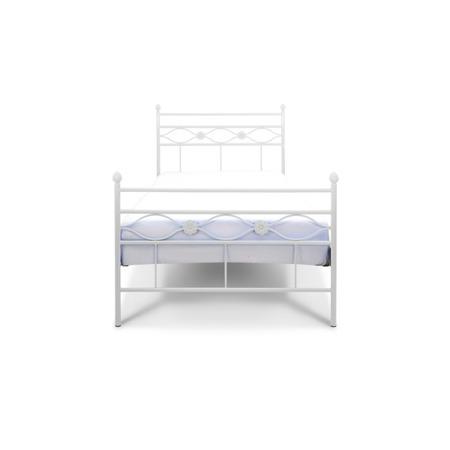 Łóżko metalowe młodzieżowe Floris 120/200 białe