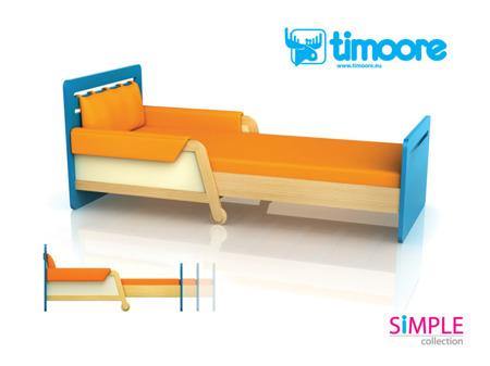 Łóżko rozsuwane zielony wersja LIGHT (tańsza) Timoore Simple