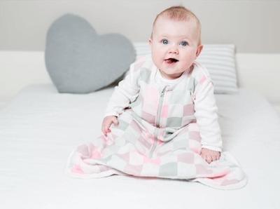 Lulujo, śpiworek muślinowy różowy 0-6 miesięcy