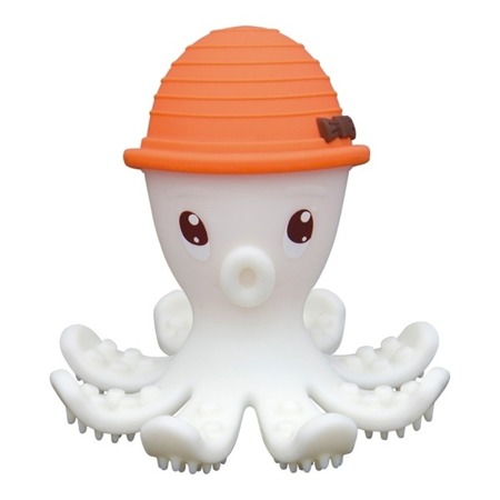 Mombella, Gryzak - zabawka Ośmiorniczka pomarańczowy