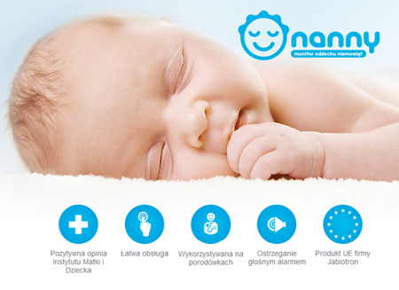 Nanny Medyczny monitor oddechu dla dzieci BM-02