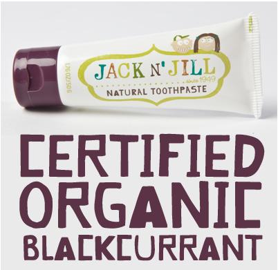 Naturalna pasta do zębów organiczna Porzeczka i Xylitol, Jack N'Jill