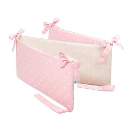 Ochraniacz do łóżeczka Lovely Dots Pink&Beige