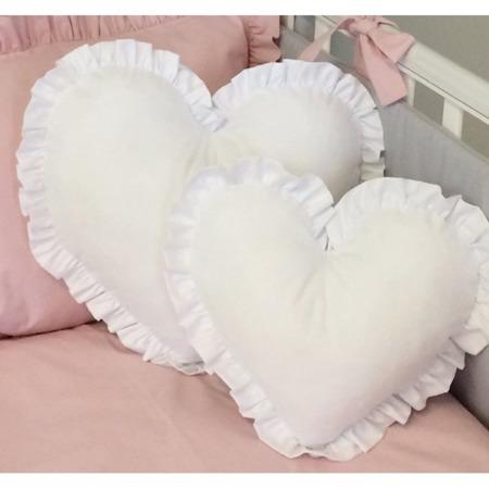 Poduszka Serce małe białe, Dolly