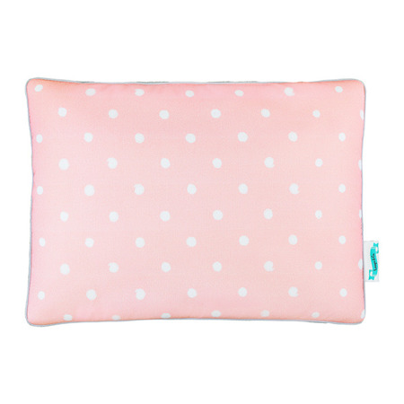 Poduszka bawełniano - welurowa Lovely Dots Pink