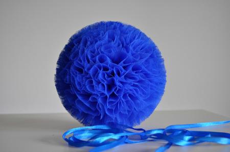 Pompon tiulowy Chabrowy 20 cm, handmade