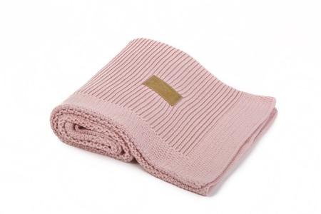 Poofi kocyk tkany różowy