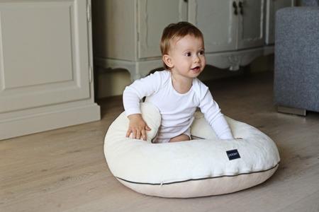 Poofi poduszka do karmienia szaro-biały