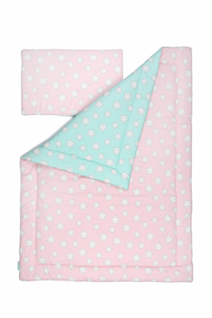 Pościel dziecięca 100 X 135 Pink & Mint Stars