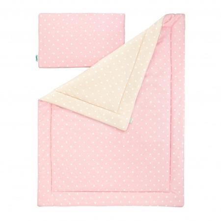 Pościel dziecięca 100 x 135cm Lovely Dots Pink&Beige