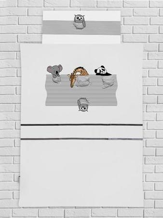 Pościel dziecięca spiące zwierzątka, 120x90cm