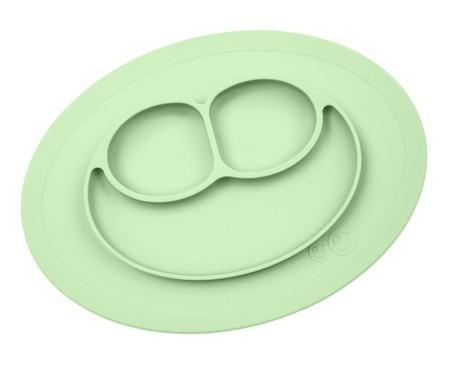 Silikonowy talerzyk z podkładką mały EZPZ 2 w 1 Mini Mat, Pastelowa zieleń