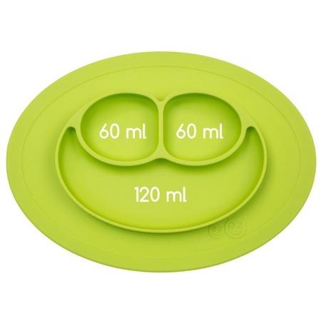 Silikonowy talerzyk z podkładką mały EZPZ 2 w 1 Mini Mat, zielony mat